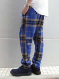 "ffiXXed  (フィックス) // ""COMMUNAL TROUSER"" - BLUE TARTAN CHECK <ウエスト紐ワイドトラウザー>"