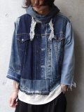 "【再入荷】 GILET (ジレ) ""REMAKE DENIM ANORAK PARKA"" <リメイクアノラックパーカー>"