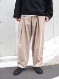 "20AW 【SHELTER別注カラー】 ■RELAXFIT (リラックスフィット) ""WRAP EASY CORDUROY PANTS"" <イージーパンツ> - CREAM"
