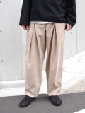 "【SHELTER別注カラー】 ■RELAXFIT (リラックスフィット) ""WRAP EASY CORDUROY PANTS"" <イージーパンツ> - CREAM"