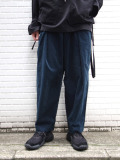 "【20AW】 ■RELAXFIT (リラックスフィット) ""WRAP EASY CORDUROY PANTS"" <イージーパンツ> - NAVY"