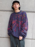 "【SALE:2020AW】 Iroquois (イロコイ) ""TIE DYE JQ KNIT"" <ニット> - PURPLE"