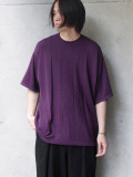 "【SALE:2020SS】 Iroquois (イロコイ) ""C/R CABLE KNIT"" <サマーニット> - PURPLE"