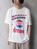 "<18SS> Iroquois (イロコイ) ""DREAMS BABY DREAM ルーズシルエット プリントTシャツ カットソー"