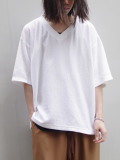 "Iroquois (イロコイ) ""30/2 PARALELED YARN V NECK"" <Tシャツ/カットソー/ニットソー> - WHITE"