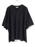 "Iroquois (イロコイ) ""30/2 PARALELED YARN V NECK"" <Tシャツ/カットソー/ニットソー> - BLACK"