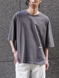 "JieDa(ジエダ)  ""PIGMENT OVER BIG T-SHIRT ""FRUIT OF THE LOOM"""" <Tシャツ カットソー> - BLACK"