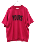"JieDa(ジエダ)  ""YOURS BIG T-SHIRT"" <Tシャツ/カットソー> - RED"