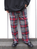 "JieDa(ジエダ)  ""SIDE SLIT FLANNEL EASY PANTS"" <イージーパンツ>"