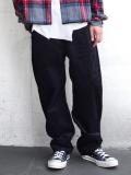 """JieDa(ジエダ)  """"BAGGY CORDUROY PANTS"""" <バギーパンツ> - BLACK"""