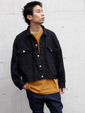 "JieDa(ジエダ)  ""SHORT DENIM JACKET"" <デニムジャケット> - BLACK"