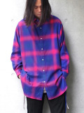 "JieDa(ジエダ)  ""OMBRE PLAID LONG SHIRT"" <シャツ>"