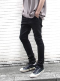 "JieDa(ジエダ)  ""SARROUEL SKINNY DENIM"" - BLACK <サルエルスキニーパンツ/デニム>【送料無料】"