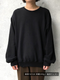 "【19AW】JieDa(ジエダ)  ""FRUIT OF THE LOOM SWITCHING SWEAT"" <スウェット> - BLACK"