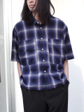 "JieDa(ジエダ)  ""CHECK DRAW CODE SHIRT"" <シャツ> - BLUE"