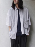 "JieDa(ジエダ)  ""STRIPE ASYMMETRY SHIRT"" <シャツ>"