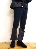 "【20AW受注会】JieDa(ジエダ)  ""SWITCHING 2WAY FLARE PANTS"" <デニム×コーデュロイ切り替えパンツ> - INDIGO"