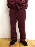 "【20AW受注会】JieDa(ジエダ)  ""GABARDINE DOUBLE KNEE SLACKS"" <パンツ> - BURGUNDY"