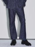"【20AW受注会】JieDa(ジエダ)  ""SILK DENIM FLARE PANTS"" <パンツ>"