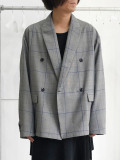 "JieDa(ジエダ)  ""DOUBLE TAILORED JACKET""  <ダブルテーラードジャケット> - GLEN CHECK"