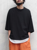 "JieDa(ジエダ)  ""BIG TEE FRUIT OF THE LOOM"" <Tシャツ/カットソー> - BLACK"