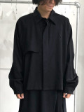 "【20SS】JieDa(ジエダ)  ""TRENCH SHIRT"" <トレンチシャツ> - BLACK"