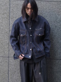 "JieDa(ジエダ)  ""POWER SHOULDER DENIM JACKET <デニムジャケット>"