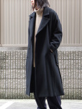 "JUHA (ユハ)  ""BELTED OVER COAT"" <ロングコート> - BLACK"