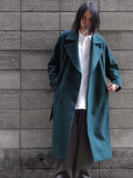 "JUHA (ユハ)  ""BELTED OVER COAT"" <ロングコート> - GREEN"