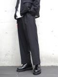 "【20SS】 JUHA (ユハ)  ""STRIPE TAPERED CROPPED PANTS"" <パンツ> - BLACK"
