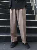 "【20SS】 JUHA (ユハ)  ""STRIPE TAPERED CROPPED PANTS"" <パンツ> - BEIGE"