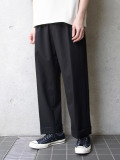 "【20SS】 JUHA (ユハ)  ""STRIPE TAPERED CROPPED PANTS"" <パンツ> - BLACK"