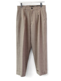 "【20SS】 JUHA (ユハ)  ""STRIPE TAPERED CROPPED PANTS"" <パンツ> - BEIGE"