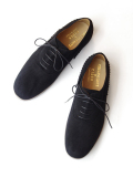 KIDS LOVE GAITE × KASEKICIDER (キッズラブゲイト) // SUEDE BALLET SHOES (レザーシューズ) - BLACK