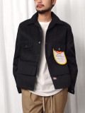 """【2020AW】 SHINYAKOZUKA (シンヤコヅカ) """"TACKED-IN WITH DICKIES"""" <シャツ / ブルゾン> - BLACK"""