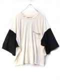 "【2020SS】 LEH (レー)  ""BIG SILHOUETTE LS TEE"" <カットソー> - WHITE"