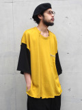 "【2020SS】 LEH (レー)  ""BIG SILHOUETTE LS TEE"" <カットソー> - YELLOW"