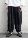 "【2020SS】 LEH (レー)  ""HAND EMBROIDERY BAND WIDE PANTS"" <パンツ>"