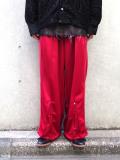 """【2021SS】 LEH (レー)  """"WIDE TRACK PANTS"""" <ワイドトラックパンツ> - RED"""