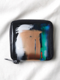 "macromauro (マクロマウロ) // ""PAINT WALLET"" <2つ折り財布> - BLACK-""C"""