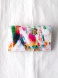 "macromauro (マクロマウロ) // ""PAINT CARD CASE"" <カードケース> - WHITE-""A"""