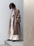 """【21SS】 my beautiful landlet (マイビューティフルランドレット)  """"COTTON LYOCEL&LINEN CANVAS LONG COAT"""" <コート> - BROWN"""