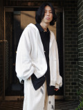 "【21SS】 my beautiful landlet (マイビューティフルランドレット)  ""SWITCHING URAKE HOODIE"" <パーカー> - OFF WHITE"