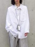 """【21SS】 my beautiful landlet (マイビューティフルランドレット)  """"TECHNO BIG SHIRT"""" <シャツ> - WHITE"""