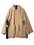 """【2020SS】 my beautiful landlet (マイビューティフルランドレット)  """"ripstop wide jacket"""" <ジャケット/ブルゾン> - BEIGE"""