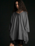"【2020SS】 my beautiful landlet (マイビューティフルランドレット)  ""cotton BIG T-shirt"" <カットソー> - GRAY"