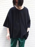 """【2020SS】 my beautiful landlet (マイビューティフルランドレット)  """"cotton BIG T-shirt"""" <カットソー> - BLACK"""