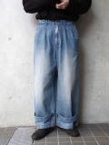 """【2020SS】 my beautiful landlet (マイビューティフルランドレット)  """"denim tuck wide pants"""" <デニム>"""