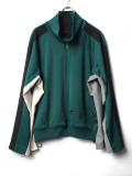 "【2020SS】 my beautiful landlet (マイビューティフルランドレット)  ""remake jersey blouson"" <ジャージブルゾン> - GREEN"