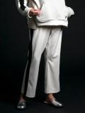 """【2020SS】 my beautiful landlet (マイビューティフルランドレット)  """"remake jersey pants"""" <ジャージパンツ> - OFF WHITE"""